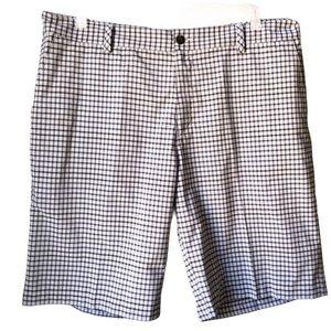 Adidas Gray Plaid Shorts Sz 38